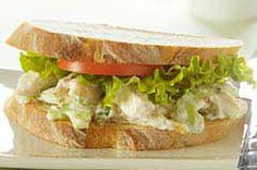 Basil-Chicken Salad Sandwich recipe