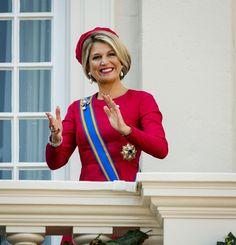 Queen Máxima on the balcony of Palace Noordeinde, Prinsjesdagsdag 16 september 2014