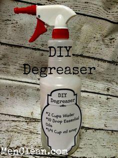 Best DIY Degreaser Recipe #menclean
