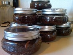 How to make brownies in mason jars and how to SEAL THEM!  (Once sealed, they have a shelf-life of up to a YEAR!)