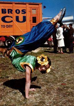 Vintage circus performer.
