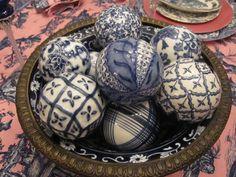 Blue & White Carpet Balls