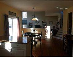 Open concept kitchen, dining room, living room. Listing #1307298