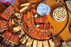 Aztec polymer art and silicone mold-2 by Page's Creations, via Flickr