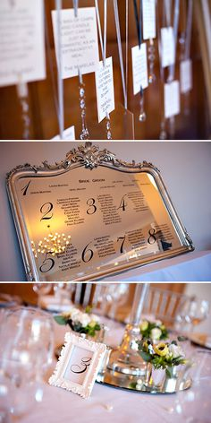 Wedding . Simple . Modern .  Mirror Seating Chart  hey @Devon Gregory Hird, this is what i though for at Brix on the mirror