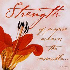 Strength of purpose...