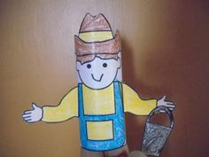 Farmer Toilet Paper Tube Puppet