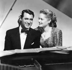 "Cary Grant and Alexis Smith starring in ""Night and Day"" (1946) Cole Porter's Bio-pic"