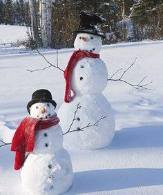 snowman and snowboy
