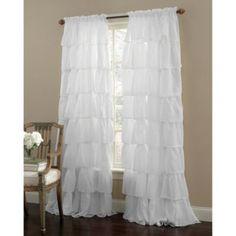 Gypsy Rod Pocket Window Curtain Panels in White - BedBathandBeyond.com
