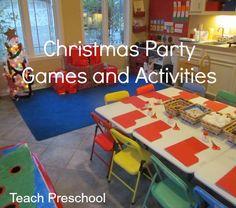 Christmas Party Games by Teach Preschool