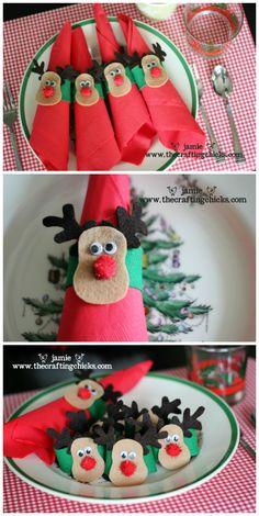Christmas ● DIY ● Tutorial ● Felt Reindeer Napkin Rings