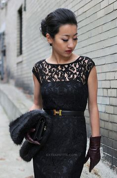 The lace on this dress is everything.