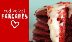 Red velvet pancakes with cream cheese frosting.  So...  Who's making these for me?