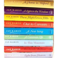 Jan Karon Mitford Series--These books are an easy read and the writing is so very good!