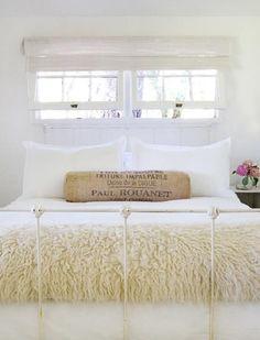 Para el verano... dormitorios en blanco!!!