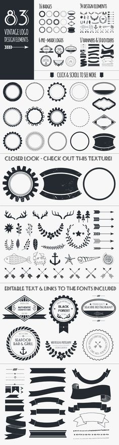 Vintage Logo Elements Bundle by Favete Art