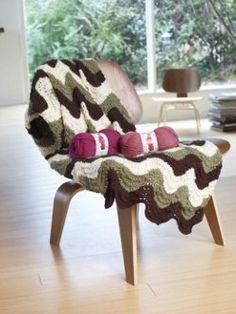 Knit Stripes and Waves Afghan | FaveCrafts.com