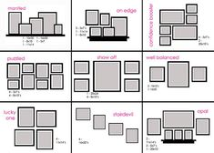 picture groupings, cheat sheets, wall pictur, photo wall, frame arrangements