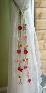 lovely curtain tie back