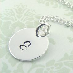 Personalized Sterling Silver Initial Necklace by Prolifique Jewlery  I LOVE this piece!!