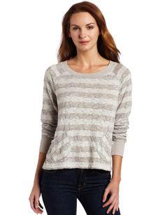 Mod-O-Doc Women`s Stripe Boxy Scoop Neck Pullover $80.00