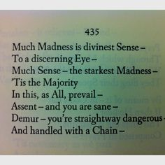 essay on much madness is divinest sense