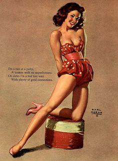 Pretty Pin Up Artwork:: Vintage Pin Up:: Pin Up Illustrations