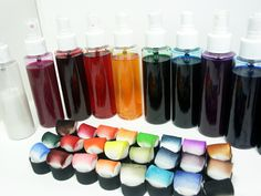 DIY Spray Inks and ink daubers - tutorial by Lindsay Weirich, the Frugal Crafter