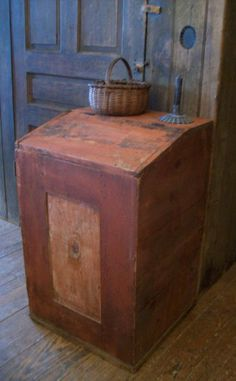 Original paint grain/coffee bin.