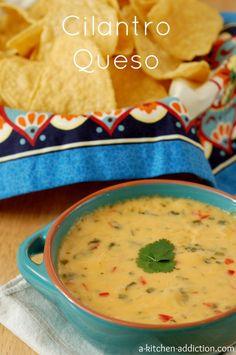 Cilantro Queso Recipe l www.a-kitchen-addiction.com