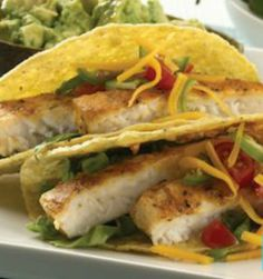 Gluten Free Grilled Tilapia Tacos: This 30-minute meal will please any picky palate! | via @SparkPeople #fish #seafood #recipe #food #dinner