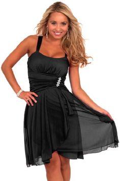 Sleeveless Rhinestone Empire Waist Sheer Layer Evening Cocktail Party Dress - List price: $69.99 Price: $39.99