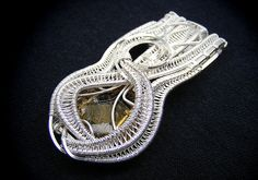 Handmade Wire Wrapped Sterling Silver Pendant by DuPuisDesigns, $200.00