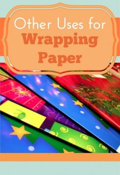 Other ideas to use wrapping paper. Be sure to grab the deals when wrapping paper is discounted and come back to this post to find lots of ways you can use it up!