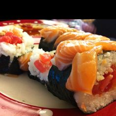 sushi, DIY, salmon, spicy tuna, tuna, japanese