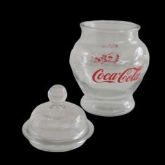 Coca Cola Cookie Jar Canister Glass Vintage Coke Retro Counter Candy Urn | eBay