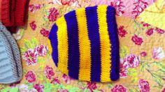 LSU knit hat