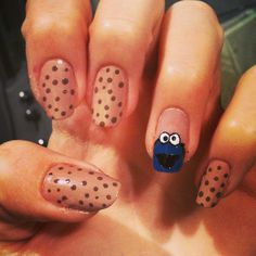 These are really easy to do & so funny ;) sesame street - The Cookie Monster nails ;D