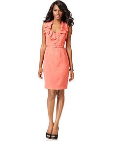 coral dress <3