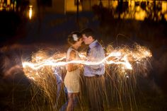 Sparklers make the wedding night so much more romantic>> http://my.gactv.com/great-american-weddings/multigallery.esi?soc=pinterest