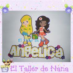 Aplique de Fresita y sus Amigas (Dulce de Limón y Naranjita)