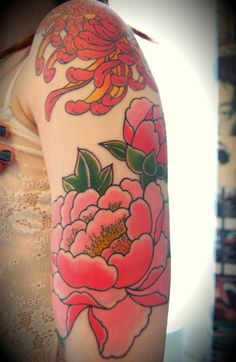 japanese flowers tattoo