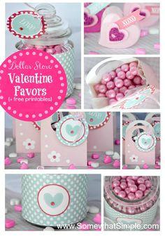 Valentine Favors + FREE printables