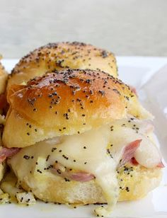 ♥♥ Ham and Cheese Sliders ♥♥