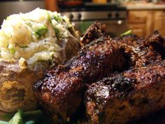 Balsamic BBQ Seitan and Tempeh Ribs