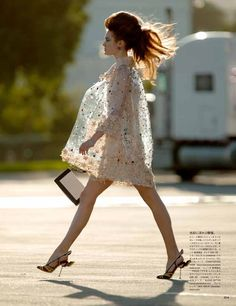 """Jac Jagaciak by Hans Ferer for Vogue Japan April 2012. """" Time Waits for No One - Girl on the Go"""" xx"""