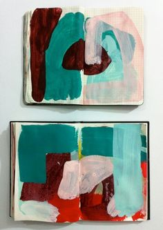 studio, inga dalrympl, color combos, smash book, abstract art