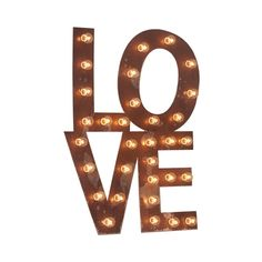 Fill your home with love with this bold marquee lighting. It's a great reminder to begin and end each day with a loving heart.