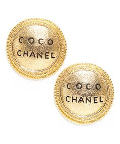 Chanel Pre-owned: gold COCO medallion clip-on earrings